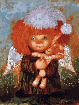 Любимая игрушка солнечного ангела   Картины, Рисунки и ...