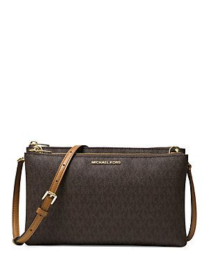 5ad0c5dfeaab MICHAEL MICHAEL KORS Leather Double Zip Crossbody   Style in 2019 ...