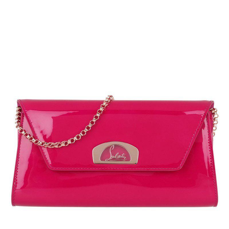 330846d776ee3 Christian Louboutin Tasche – Vero Dodat Clutch Patent Ultra Rose – in pink  – Abendtasche für
