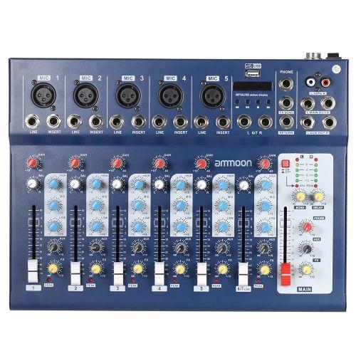 ammoon F7-USB 7-Channel Digtal Mic Line Audio Sound Mixer