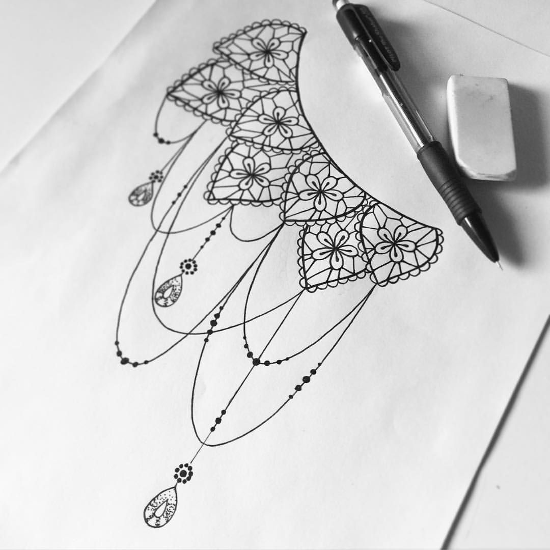 Tattoo design picture - Lace Tattoo Design More