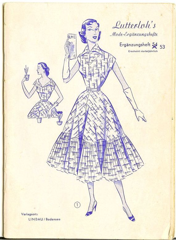 1950s Lutterloh / The Golden Rule pattern by willynillyart on Etsy ...