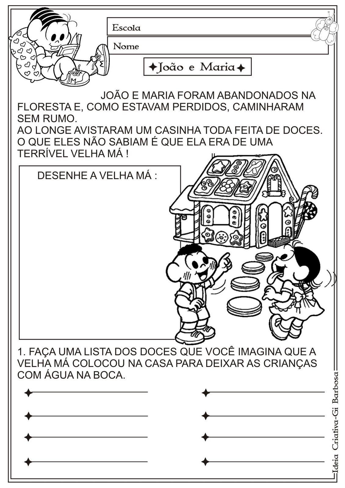 Sequencias Gato De Botas Joaozinho E Maria Maria Vai Com As