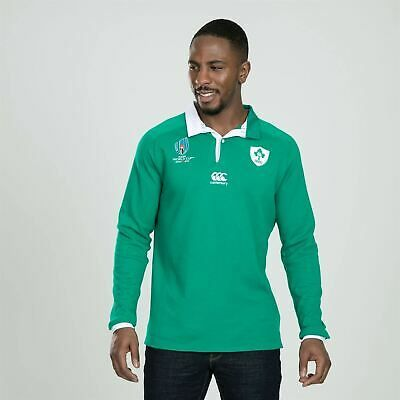 Canterbury Ireland RWC 2019 Long Sleeve Home Classic Shirt Mens Rugby Green Top #fashion #sporting #goods #teamsports #rugby (ebay link)