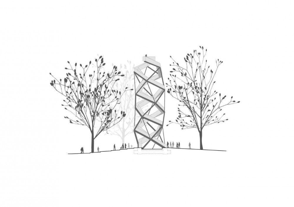 Torre de Observación sobre el Río Mur / terrain:loenhart (2)