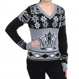 best website 88784 759d7 Los Angeles Kings Womens V-Neck Ugly Sweater (Black ...