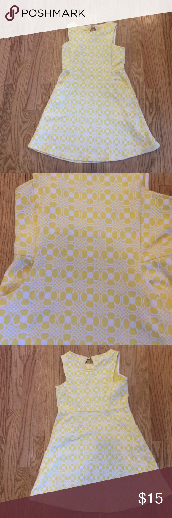 Yellow And White Lilly Pulitzer Girls Dress Bright Yellow With Cute