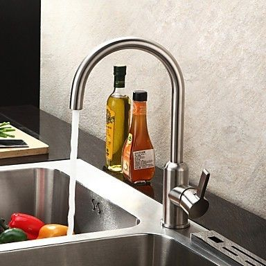 zeitgenössische gebürstetem Chrom Edelstahl Küchenarmatur - küchenarmaturen edelstahl gebürstet