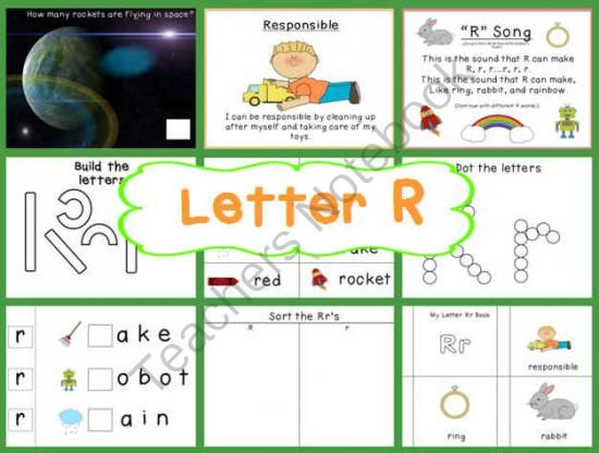 Letter R Pack from Wise Little Owls on TeachersNotebook 69