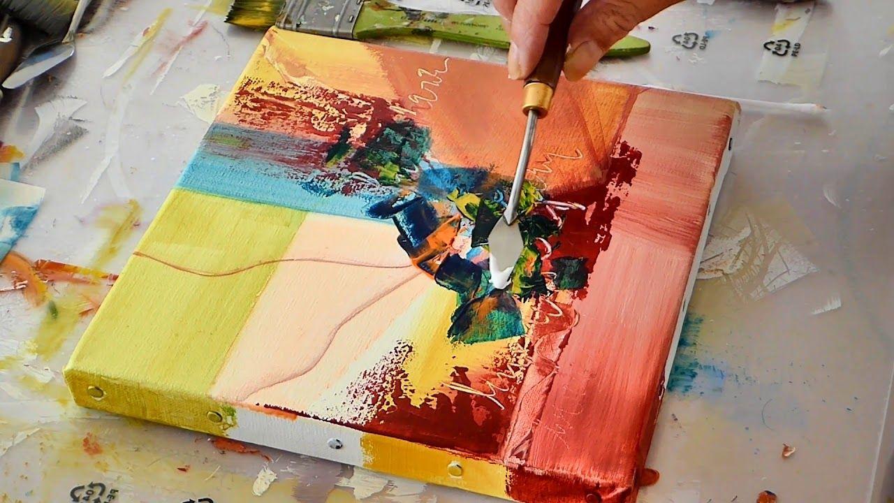 Site Des Artistes Peintres peinture abstraite acrylique- abstract painting - althea
