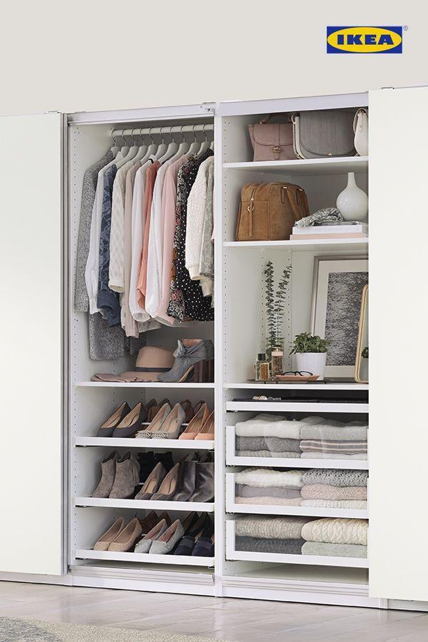 Bedroom Storage Solutions in 2020 | Ikea wardrobe, Closet