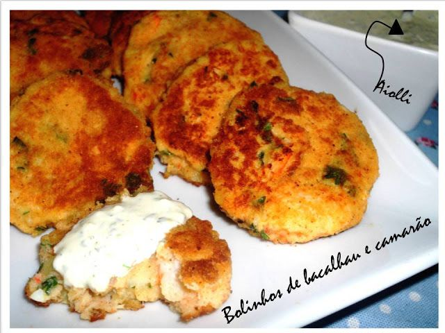 Cod and shrimp fish cakes with aioli