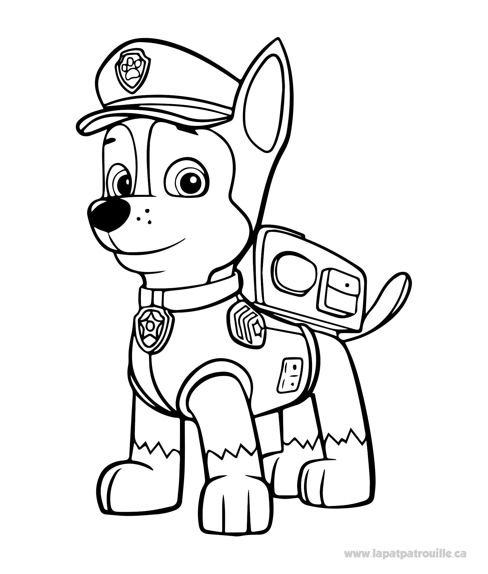Idee 14 Pat Patrouille Coloriage Chase Coloriage Pat Patrouille Coloriage Paw Patrol Dessin Pat Patrouille