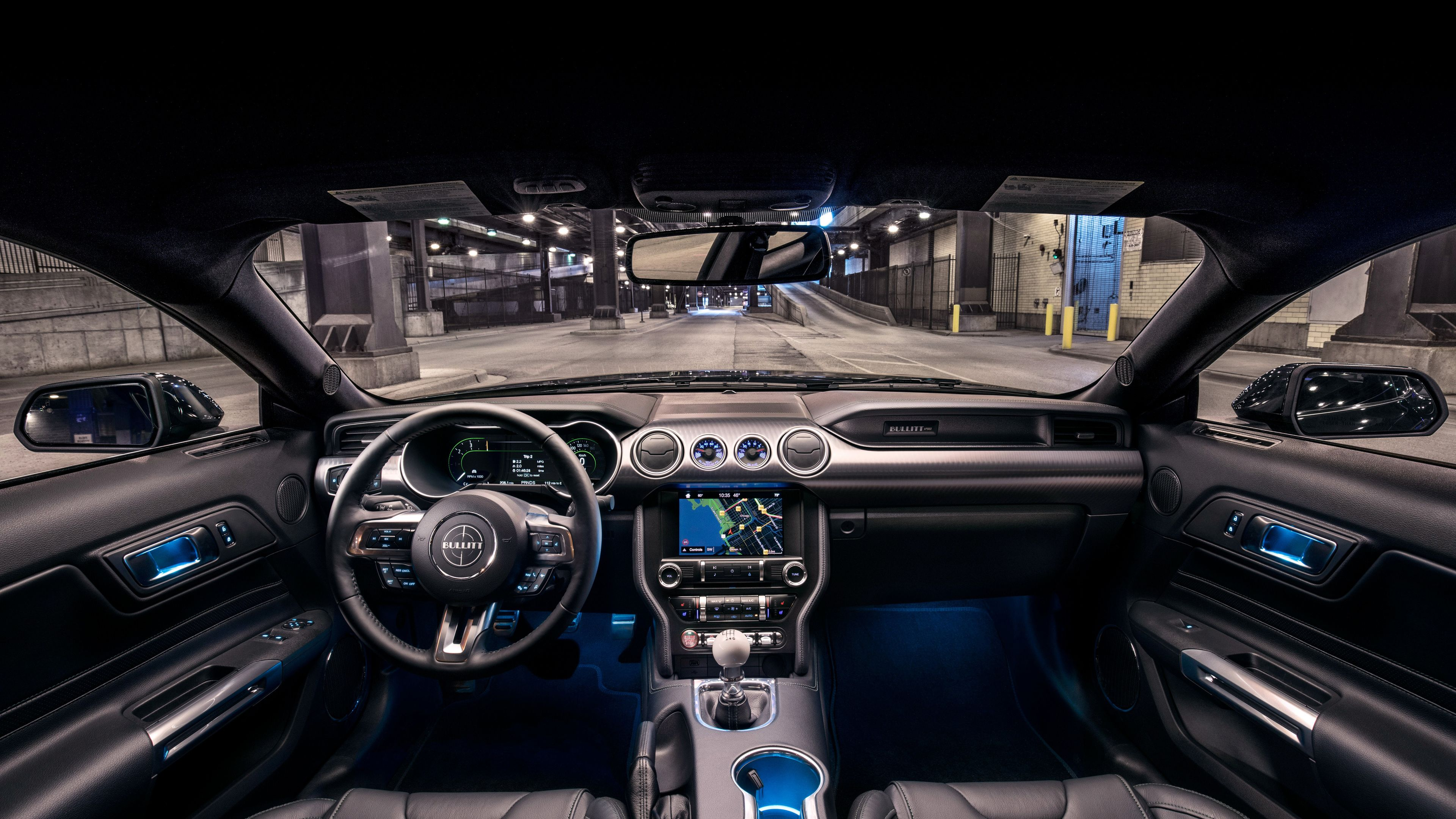 Wallpaper 4k Ford Mustang Bullitt Interior 2019 Cars Wallpapers