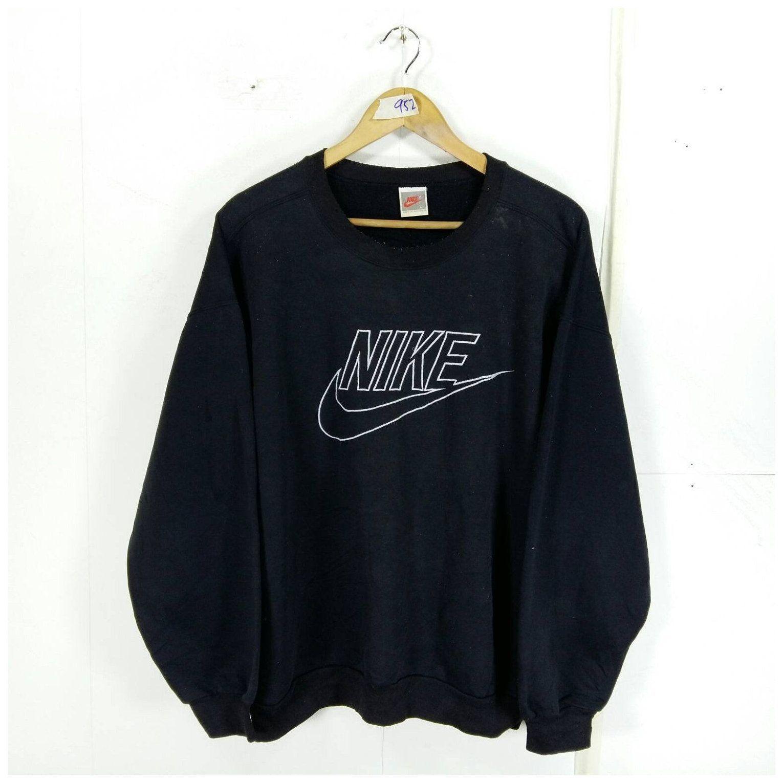 Nike Jumper Unisex Large Black Vintage 90s Sportsw Black Pullover Outfit Sweatshirts Nike Jumper Unisex Black Pullover Outfit Pullovers Outfit Nike Outfits [ 1530 x 1530 Pixel ]