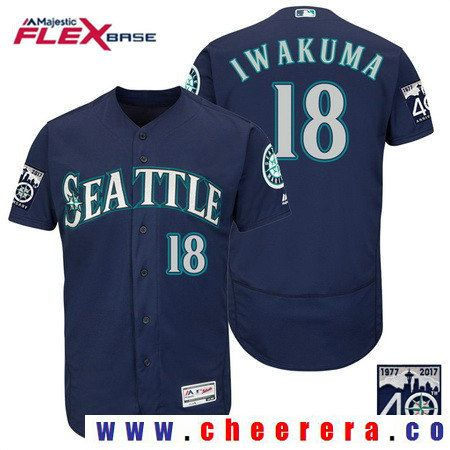 Men's Seattle Mariners #18 Hisashi Iwakuma Teal Green 2017 Spring Training Stitched MLB Majestic Flex Base Jersey