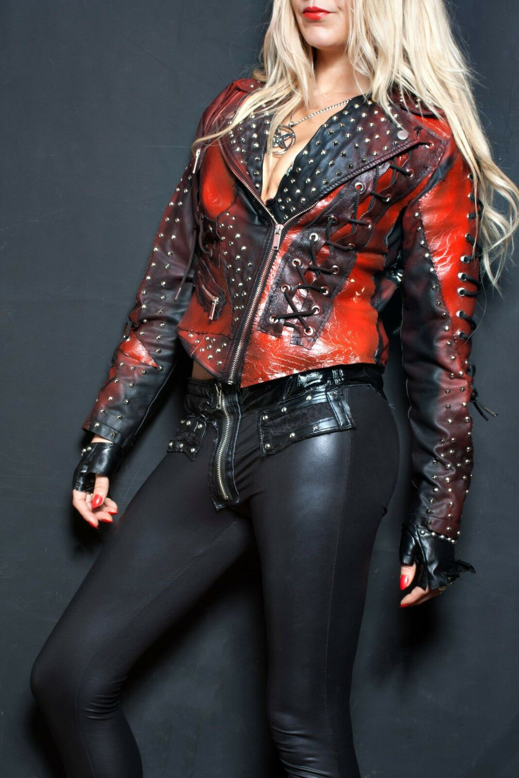 Women S Multi Color Biker Genuine Leather Silver Small Studded Cropped Jacket Leather Jackets Women Real Leather Jacket Leather Jacket Black [ 1600 x 1067 Pixel ]
