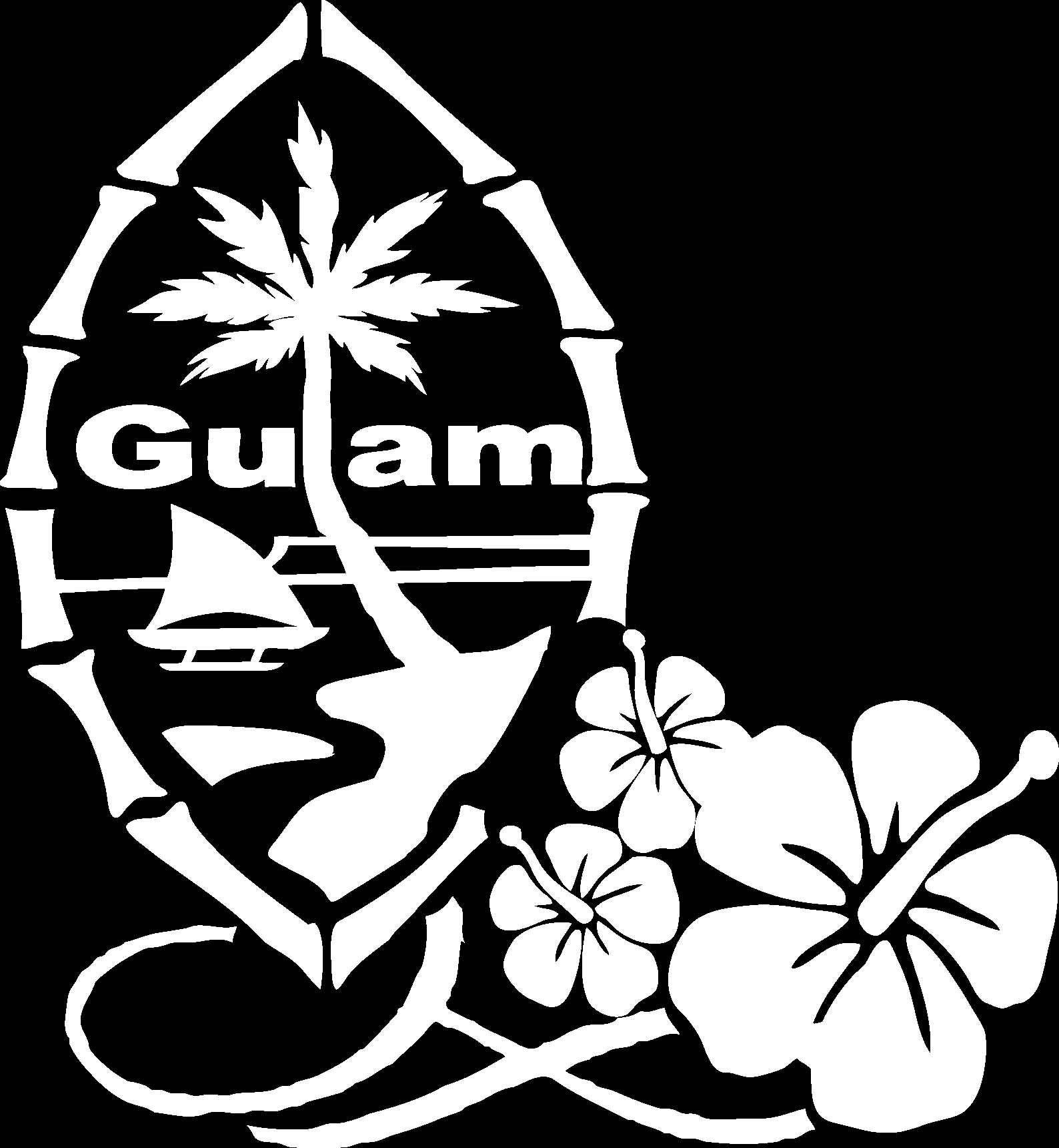 Guam hibiscus decal