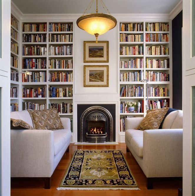 библиотека с камином фото фотографию которую