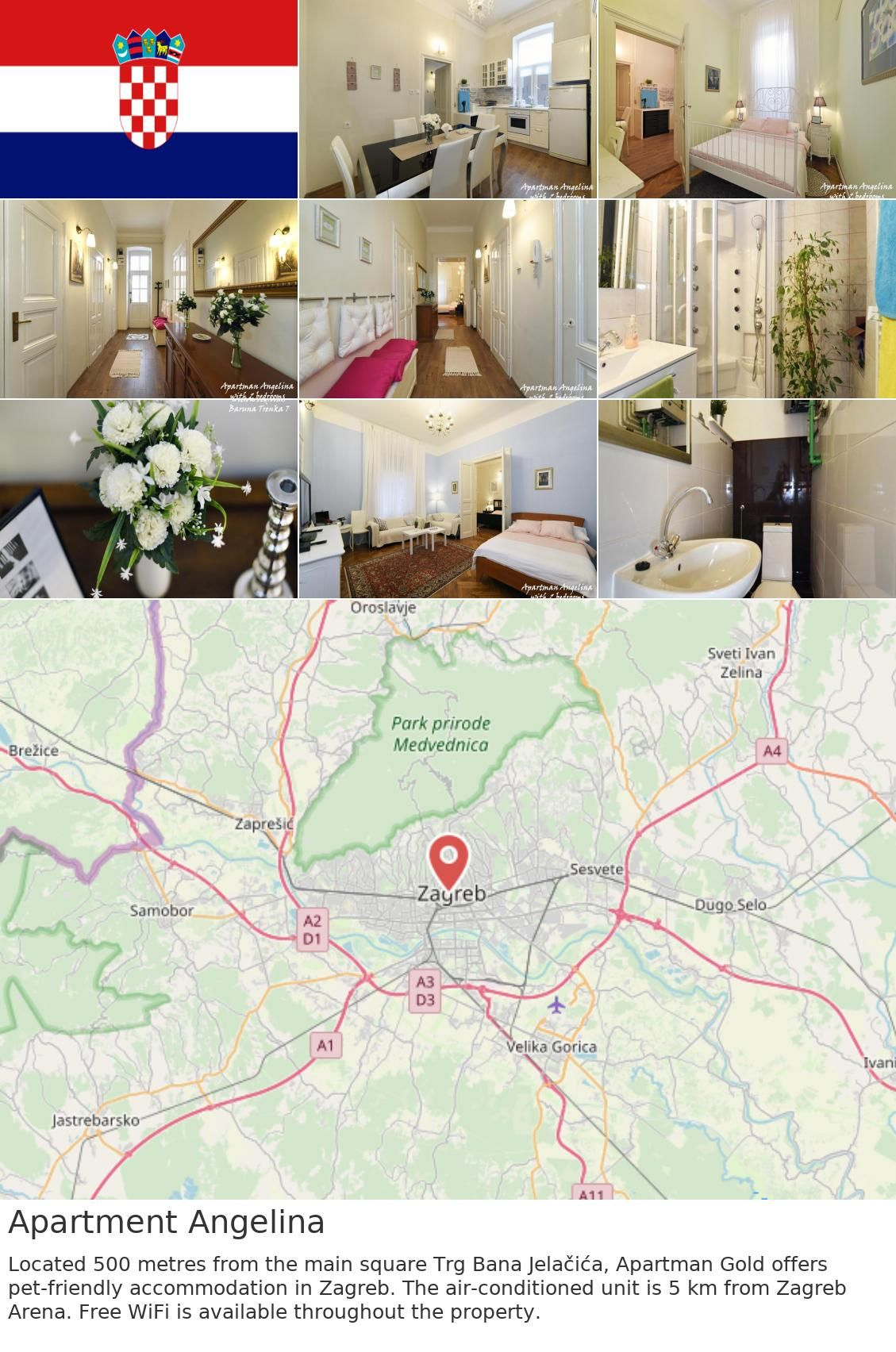 Europe Croatia Zagreb Apartment Angelina Located 500 Metres From The Main Square Trg Bana Jelacica Apartman Gold Offers Pet Friendly Accommodation In Zagre
