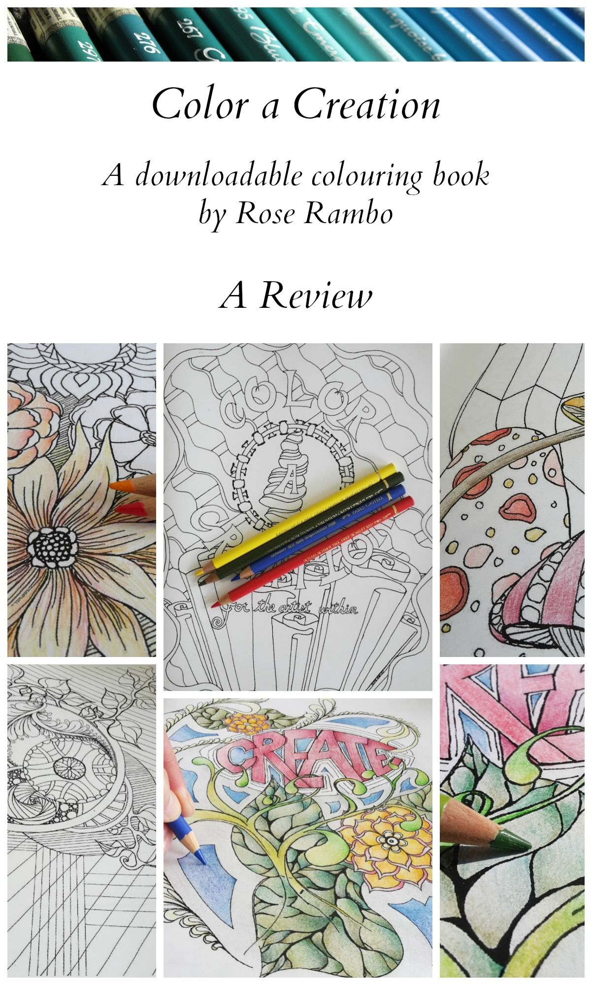 Here is a review of Color A Creation, a coloring book that is ...