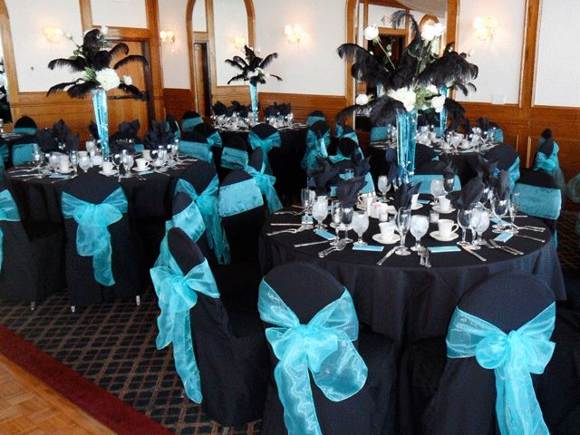 Tiffany Blue And Black Wedding Decor