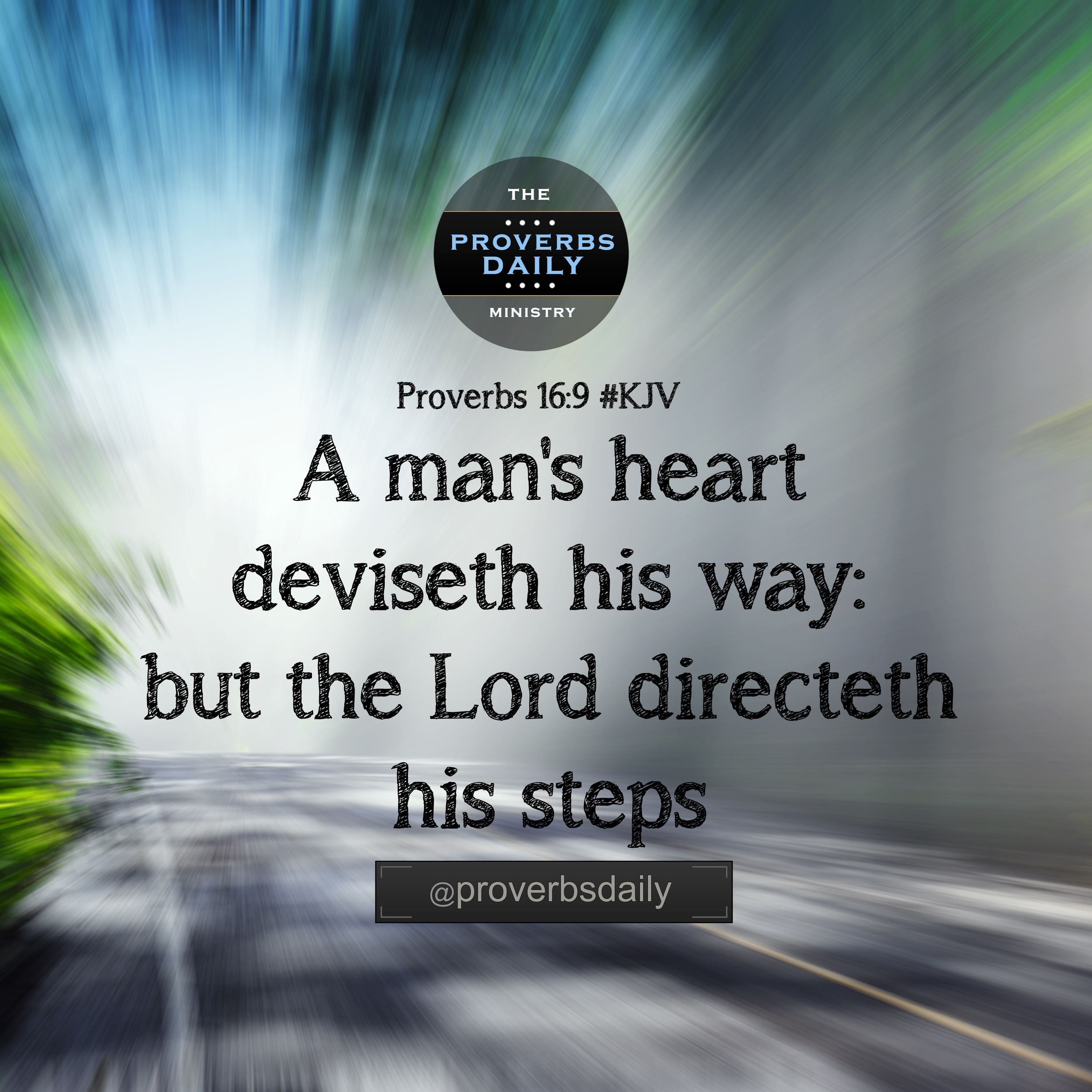 Facebook Timeline Cover Life Quotes: Proverbs 16:9 (KJV Bible Verse) Read Full Caption At