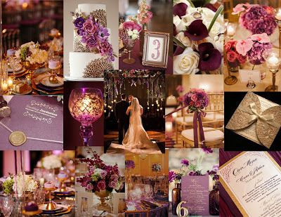 Plum, lavender, burgundy great gatsby wedding decor | Great Gatsby ...