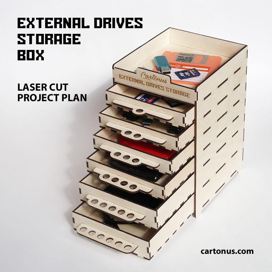 External drives storage box in 2020 Drive storage