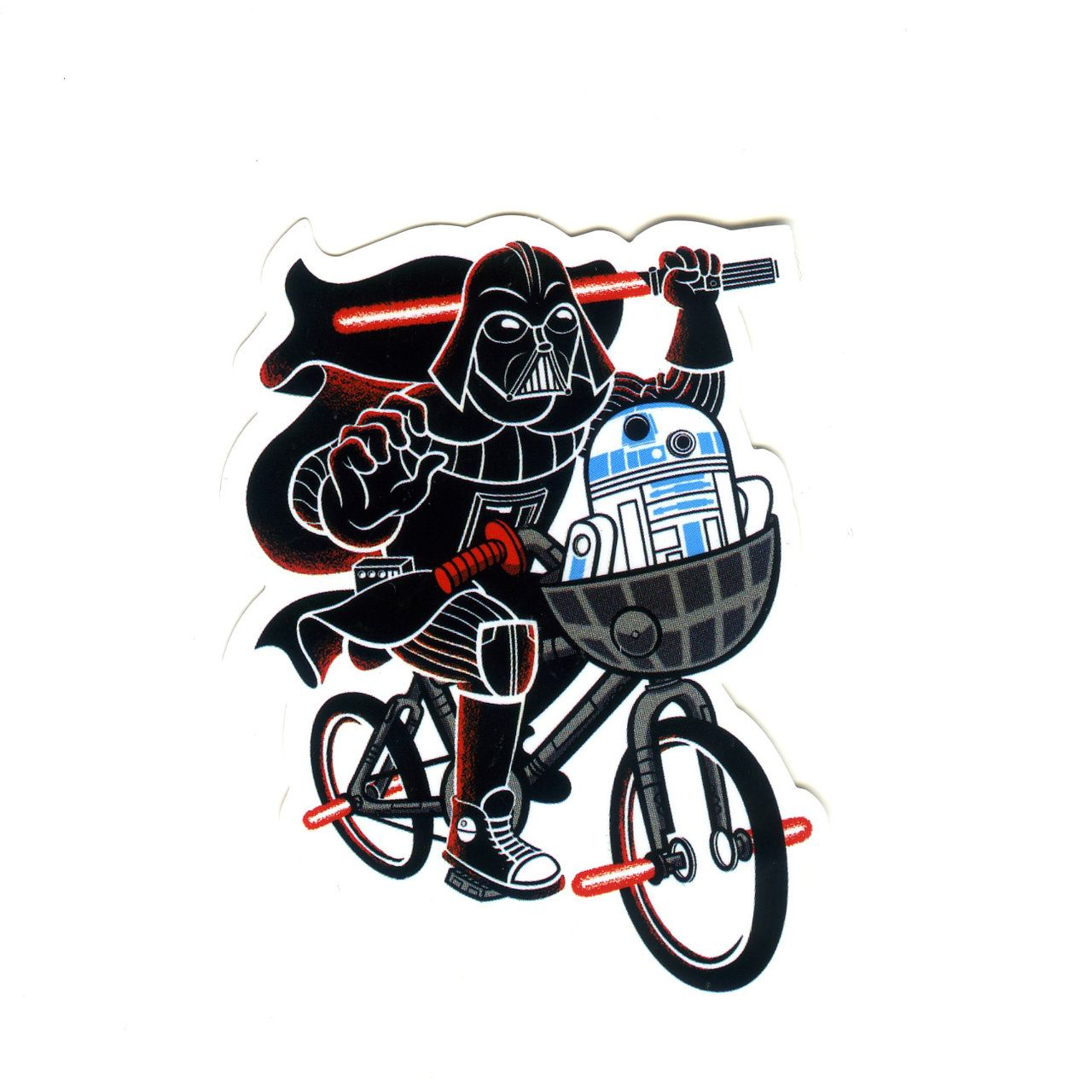 Bike stickers design for unicorn - Darth Vader Cute Cycling Star Wars Height 8 Cm Decal Sticker