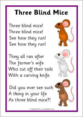 Three Blind Mice Song Sheet Sb10679 Sparklebox Letters