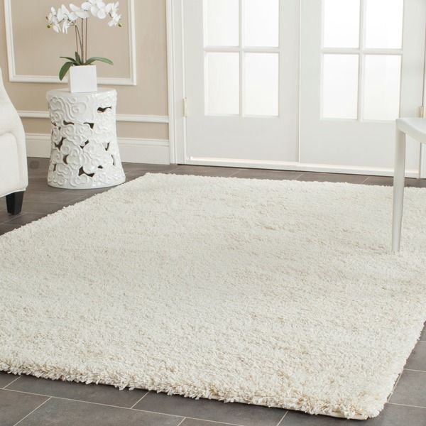 Safavieh Cozy Solid Ivory Shag Rug  4  x 6     Overstock Shopping. Safavieh Cozy Solid Ivory Shag Rug  4  x 6     Overstock Shopping