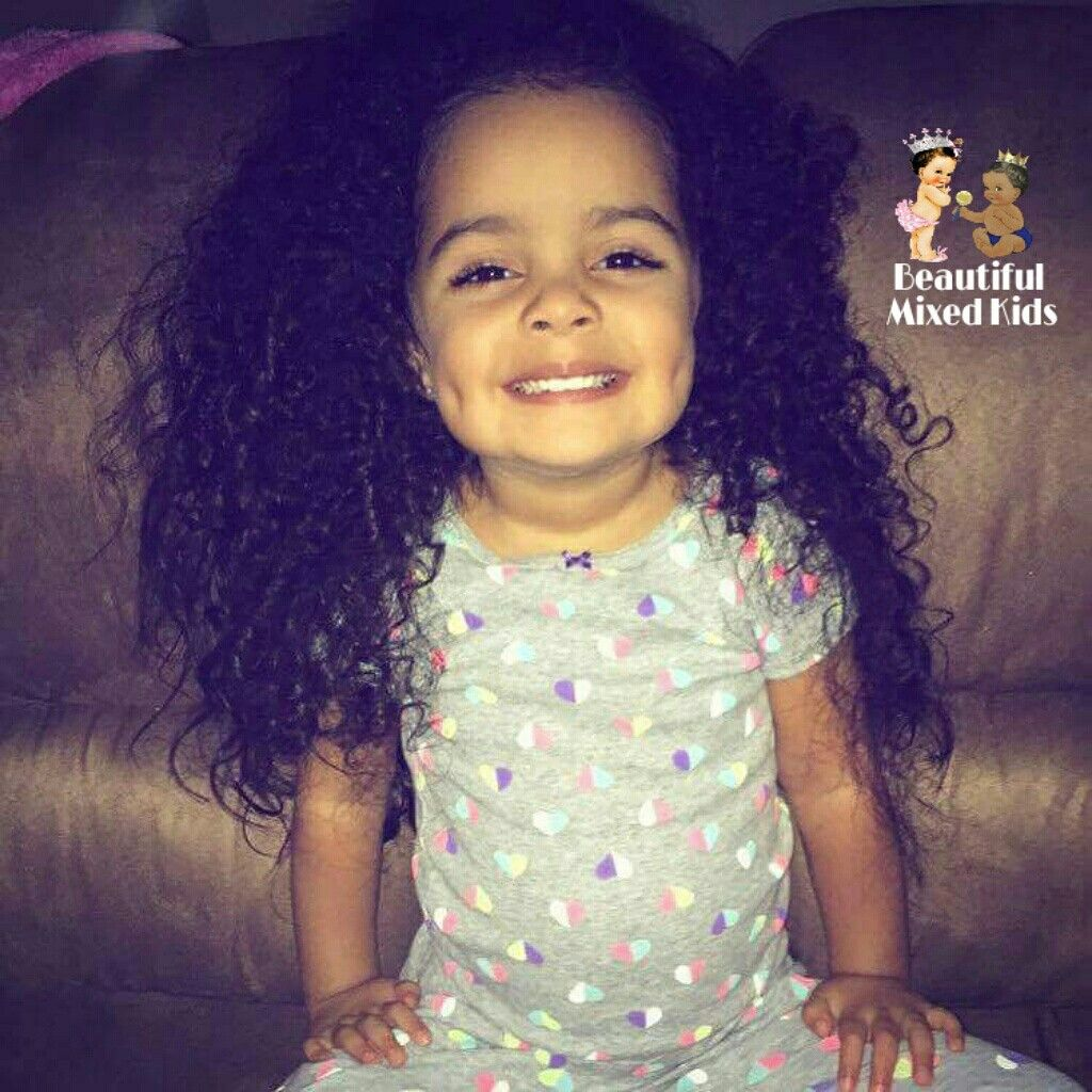 Sophia 3 Years Mom Mexican Dad African American Mixed Kids Pretty Baby Love My Kids