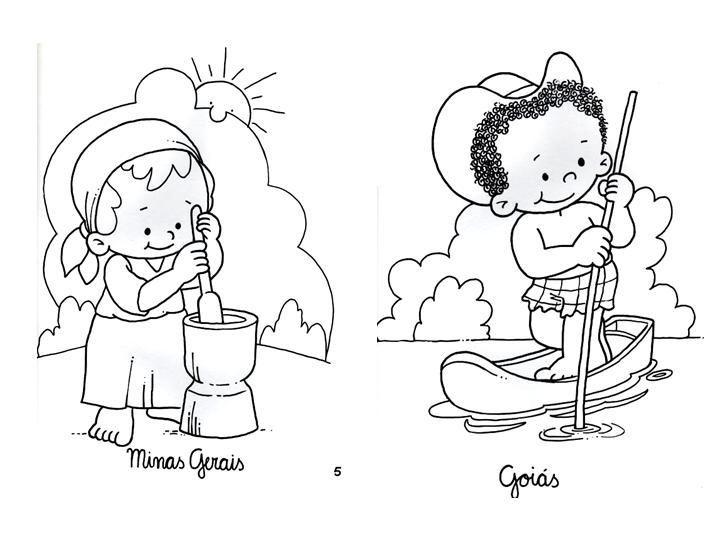 Día De La Paz Galería De Dibujos Y Carteles Niños Del: Brasileño Colorear - Minas Gerais - Goiás