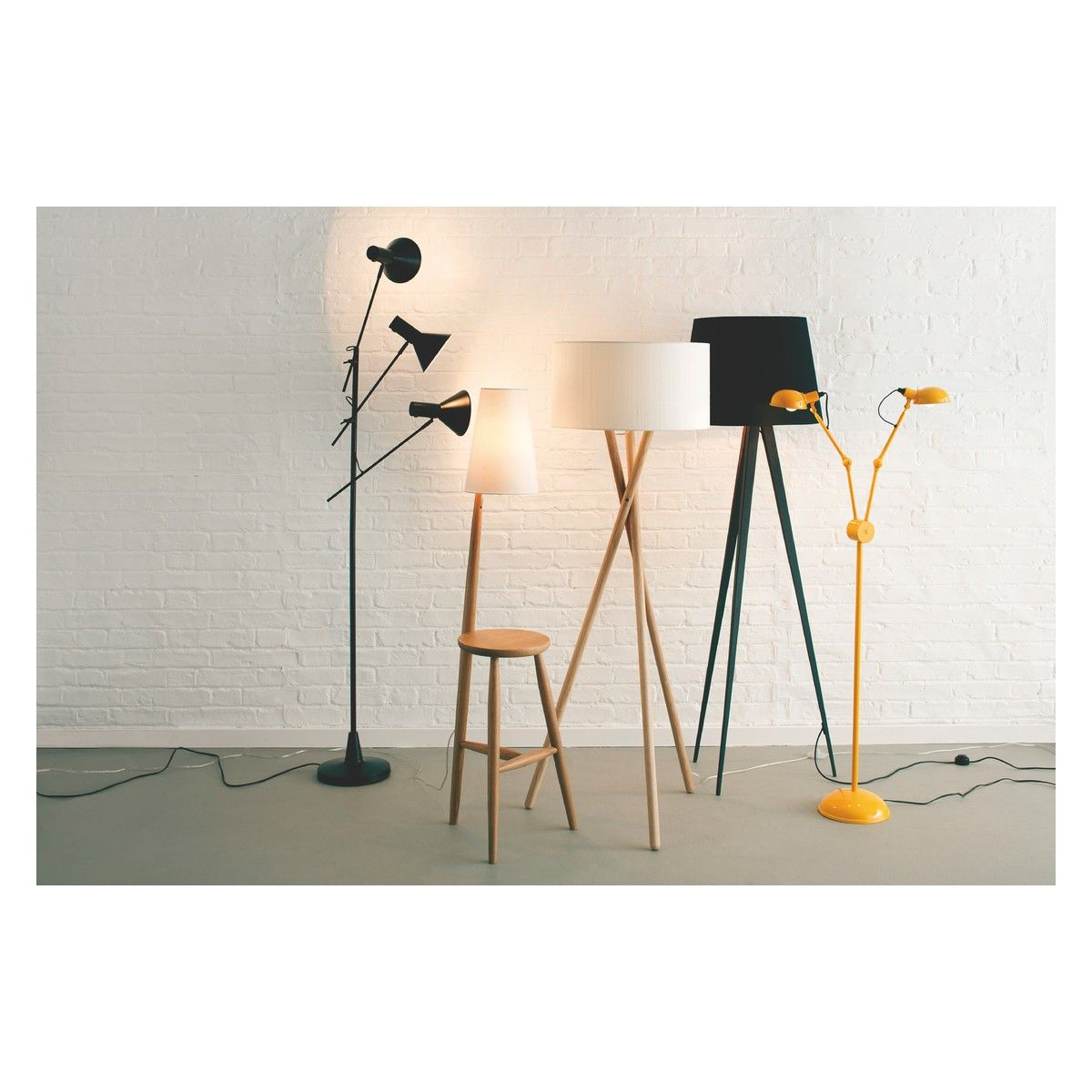 Lansbury Base Ash Wooden Tripod Floor Lamp Oak Floor Lamp Floor Lamp Metal Floor Lamps