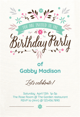 free printable invitations online