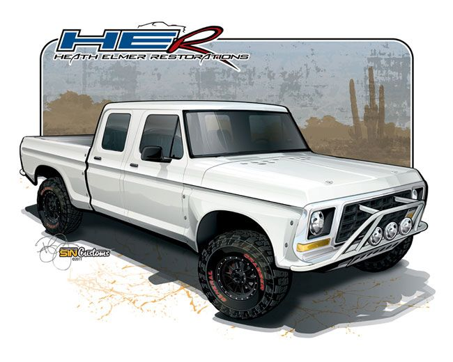 1978 ford f250 crew cab prerunner vehicle rendering by sin customs 1978 ford f250 crew cab prerunner vehicle rendering by sin customs artist ryan curtis fandeluxe Gallery