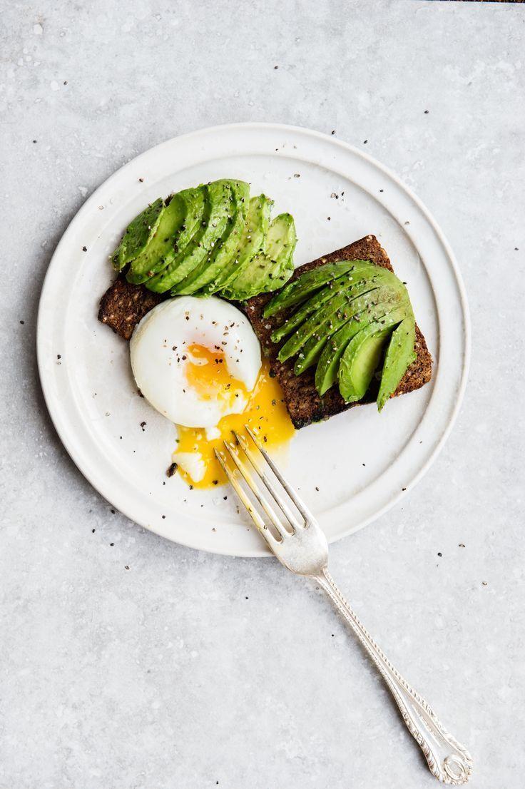 Avocado mit pochiertem Ei auf Roggenvollkornbrot verfeinert mit Chia Samen !