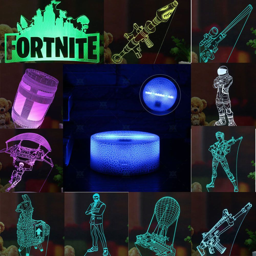 Fortnite Battle Royale 3d Led Lamp Night Light 7 Color Change Panel Kids Gift Fortnite Fortnitebattleroyale Live