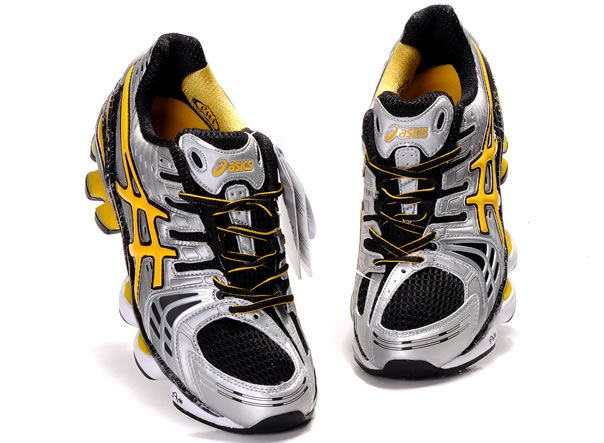 1fd45b51ce04 hot men asics gel kinsei 2 shoes grey yellow black b5b33 d4335