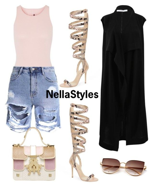 """Xoxo"" by nellastyles on Polyvore featuring Giuseppe Zanotti, Rick Owens, Givenchy and Giancarlo Petriglia"