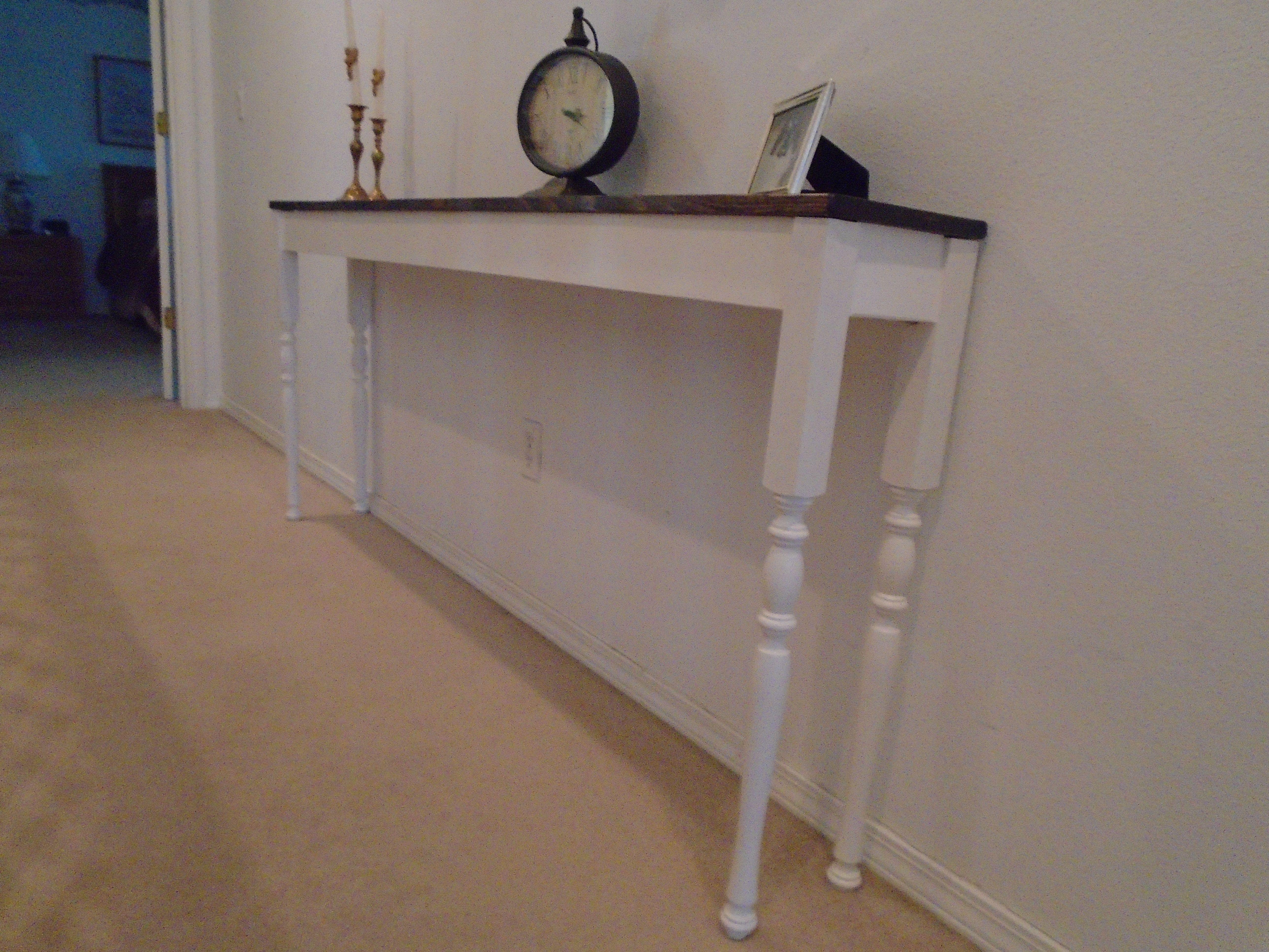 Long, thin, skinny farmhouse sofa table or entry table or ...