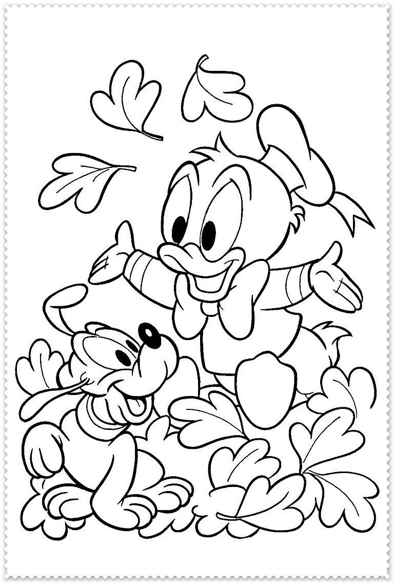 Spelen Met Bladeren Fall Coloring Pages Disney Coloring Pages Printables Disney Coloring Pages