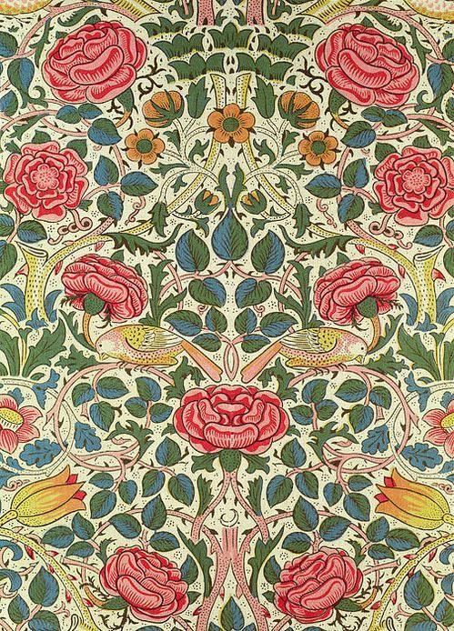 william morris rose arts appliqu s et d coratifs design pinterest papier peint. Black Bedroom Furniture Sets. Home Design Ideas
