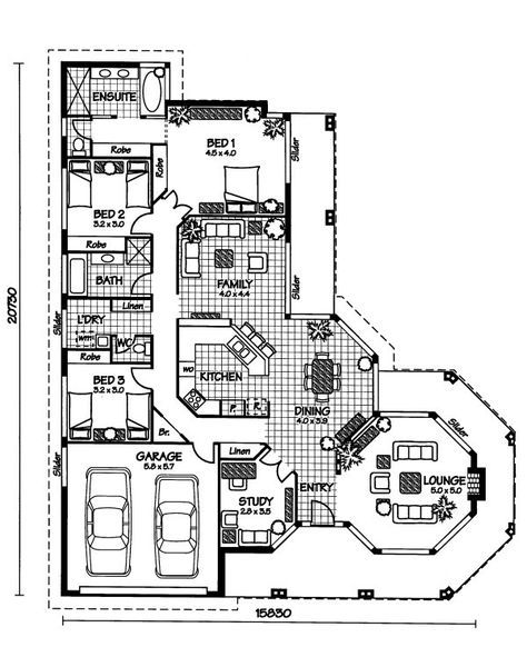 Australian House Plans Sudbury Floor Plan Australian House Plans Country House Plans Dream House Plans