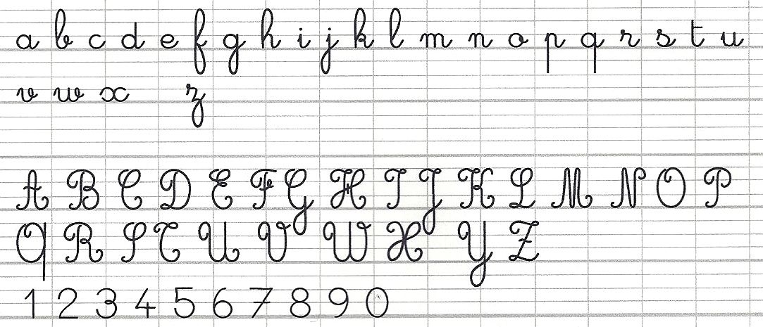 A FRENCH PRIMER PENMANSHIP French cursive, French