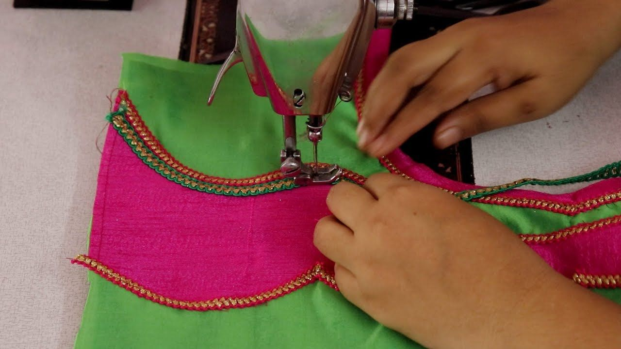 Saree blouse design cutting and stitching neck design patch work  ezee blouse designs  pinterest  design