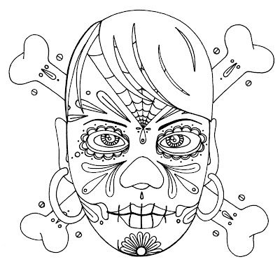 Wenchkin\'s coloring pages - girly skull and crossbones | Skulls ...
