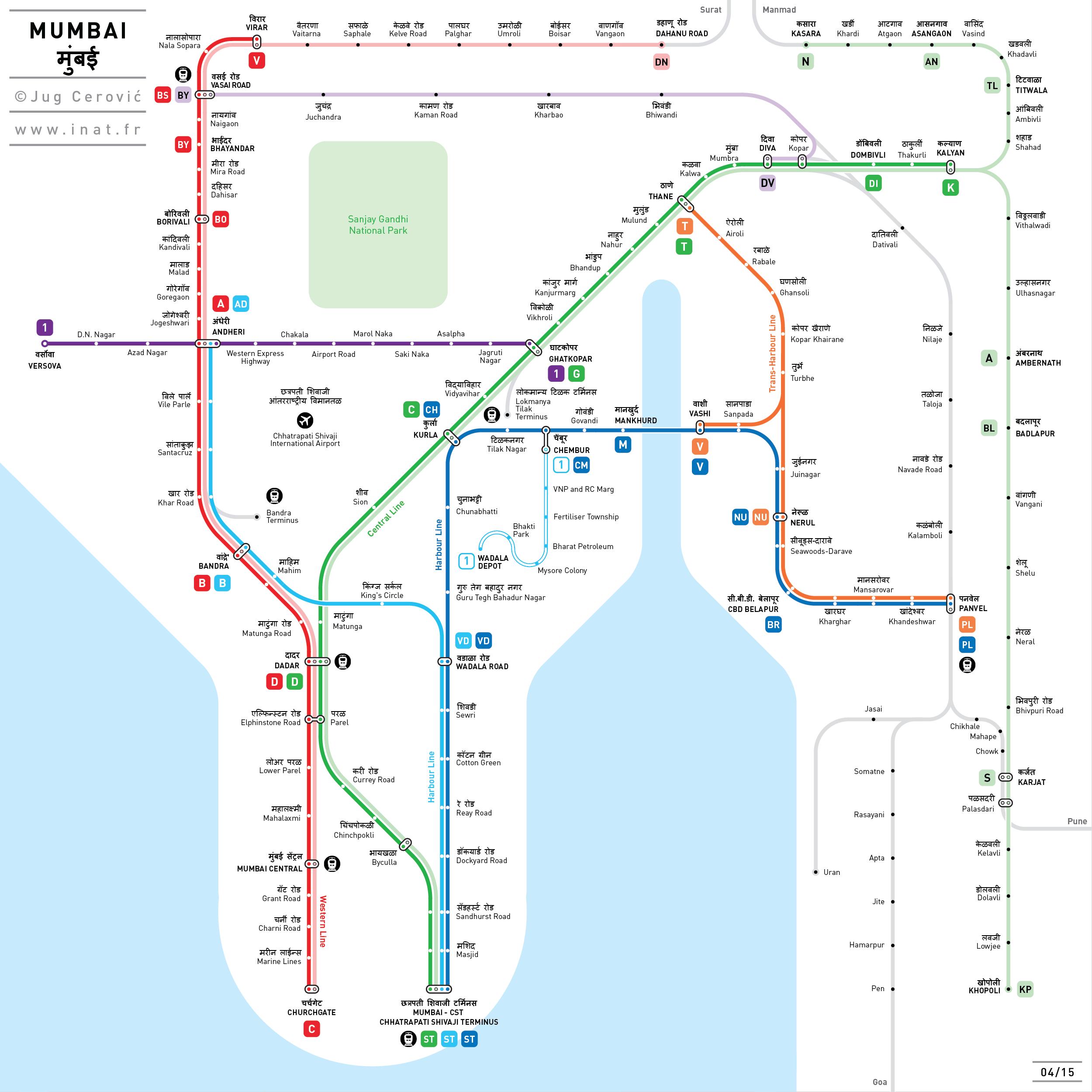 Mumbai Subway Map.Mumbai Inat Metro Map Inat Metro Maps Pinterest Mumbai Metro