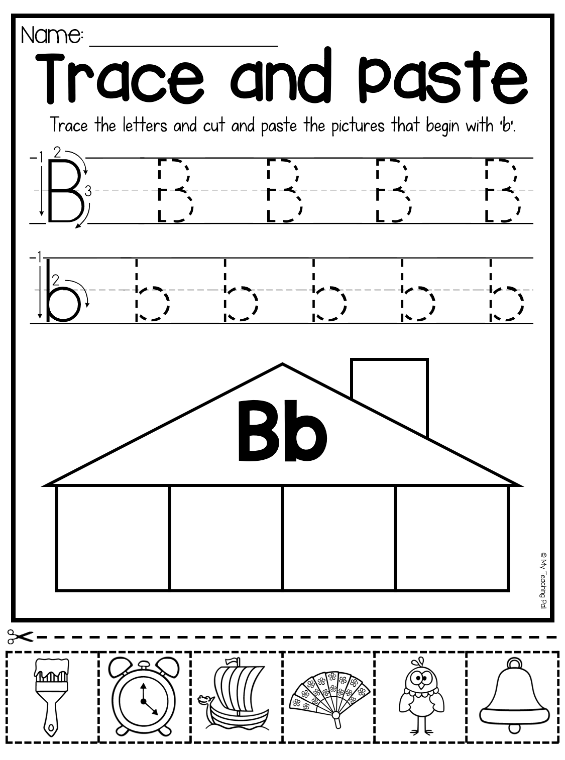 Beginning Sounds Worksheets Trace And Paste Lower Case Letters
